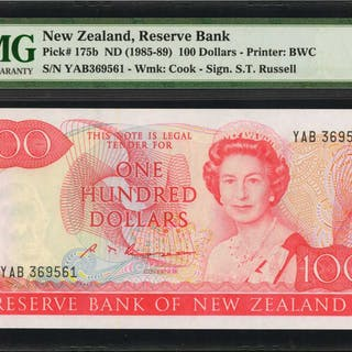 NEW ZEALAND. Reserve Bank of New Zealand. 100 Dollars, ND (1985-89).