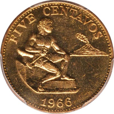 PHILIPPINES. 5 Centavos, 1966. Kings Norton Mint. PCGS SPECIMEN-65.