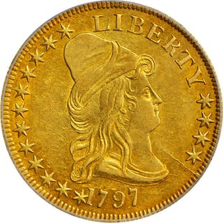 1797 Capped Bust Right Eagle. Small Eagle. BD-1, Taraszka-7. Rarity-5.