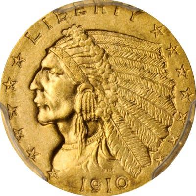1910 Indian Quarter Eagle. MS-63 (PCGS).