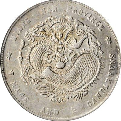 CHINA. Kiangnan. 7 Mace 2 Candareens (Dollar), CD (1900). PCGS Genuine--Chopmark