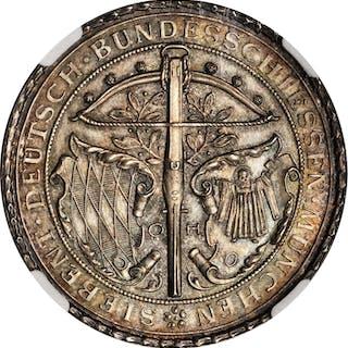 GERMANY. Bavaria. Munich Shooting Festival Silver Medal, 1881. NGC MS-67.