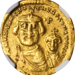 HERACLIUS, 610-641. AV Solidus (4.23 gms), Constantinople Mint, 5th