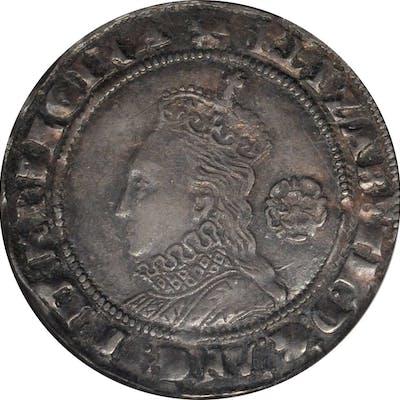 GREAT BRITAIN. 6 Pence, 1574. London Mint. Elizabeth I. NGC EF-45.