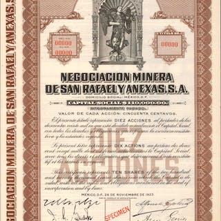 MEXICO. Negociacion Minera de San Rafael Y Anexas, S.A. 10 Shares