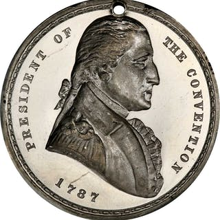 Circa 1887 Centennial of the Constitution medal. President of the