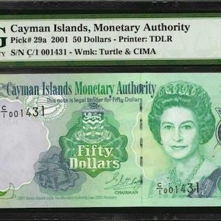 CAYMAN ISLANDS. Cayman Islands Monetary Authority. 50 Dollars, 2001.