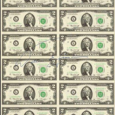 Fr.1935-L* 1976 $2 Federal Reserve Star Notes. San Francisco. Uncut