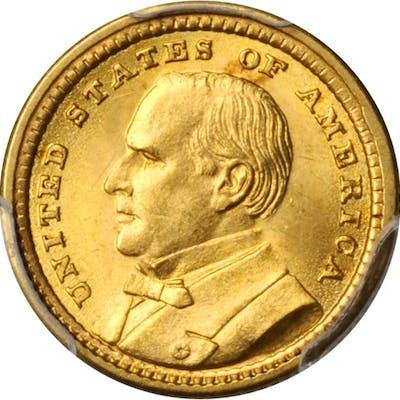 1903 Louisiana Purchase Exposition Gold Dollar. McKinley Portrait.