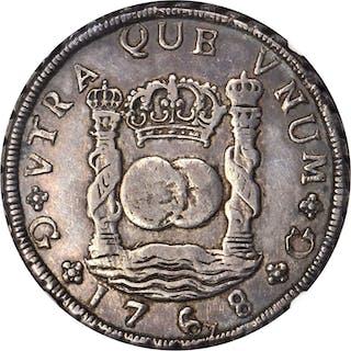 GUATEMALA. 8 Reales, 1768-G P. Guatemala Mint. Charles III. NGC VF-25.