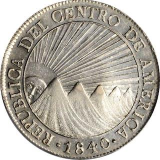 GUATEMALA. 8 Reales, 1840/37-NG MA/BA. Nueva Guatemala Mint. PCGS