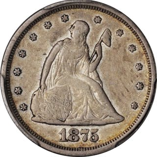 1875-S Twenty-Cent Piece. EF-45 (PCGS). CAC.