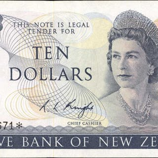NEW ZEALAND. Reserve Bank of New Zealand. 10 Dollars, ND (1967-81).