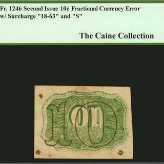 Fr. 1246. 10 Cent. Second Issue. PCGS Currency Very Fine 35. Inverted