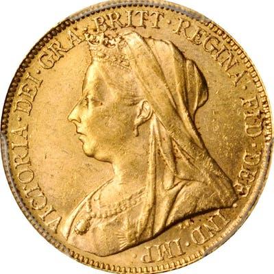 AUSTRALIA. Sovereign, 1901-P. Perth Mint. Victoria. PCGS MS-62 Gold Shield.