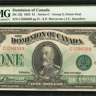 CANADA. Dominion of Canada. 1 Dollar, 1923. DC-25j. PMG Extremely Fine 40 EPQ.