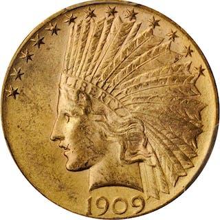 1909-D Indian Eagle. MS-64 (PCGS).