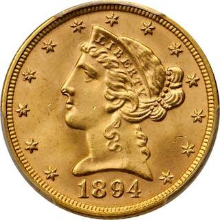 1894 Liberty Head Half Eagle. MS-66+ (PCGS). CAC.