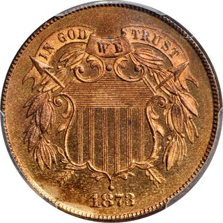 1873 Two-Cent Piece. Open 3. Proof-66+ RB (PCGS). CAC.