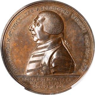 GREAT BRITAIN. Golden Jubilee Bronze Medal, 1810. George III. PCGS