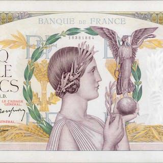 FRANCE. Banque de France. 5000 Francs, 1941. P-97c. About Uncirculated.