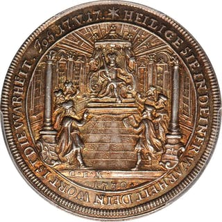GERMANY. Augsburg. Augsburg Confession 200th Anniversary Silver Medal