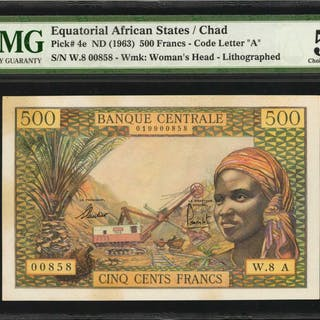 EQUATORIAL AFRICAN STATES. Banque Centrale. 500 Francs, ND (1963).