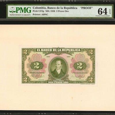 COLOMBIA. Banco de la Republica. 2 Pesos Oro, January 1, 1926. P-372p.