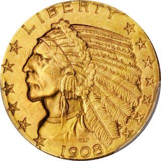 1908 Indian Half Eagle. MS-64 (PCGS).