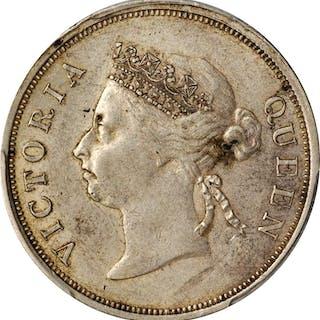 STRAITS SETTLEMENTS. 50 Cents, 1898. Victoria. PCGS AU-50 Gold Shield.