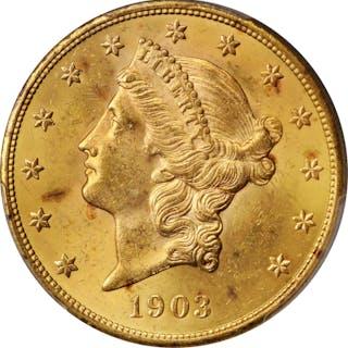 1903 Liberty Head Double Eagle. MS-63 (PCGS).