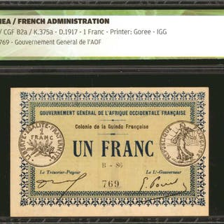 GUINEA. Gouvernement General de l'Afrique Occidentale Francaise. 1