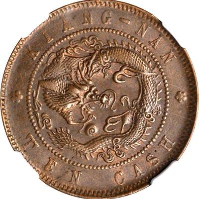 CHINA. Kiangnan. 10 Cash, CD (1903). NGC MS-62 Brown.