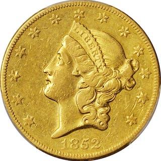 1852-O Liberty Head Double Eagle. EF-45 (PCGS).