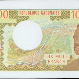 GABON. Republique Gabonaise. 10,000 Francs, ND (1971). P-1p. Proof.