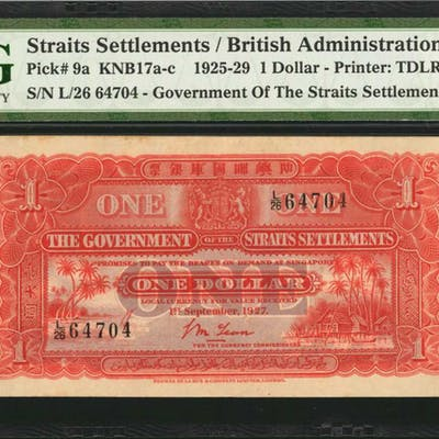 STRAITS SETTLEMENTS. Government of the Straits Settlements. 1 Dollar