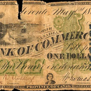 CANADA. Canadian Bank of Commerce. 1 Dollar, 1867. CH #75-10-02a.