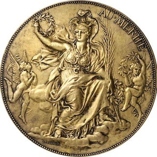 FRANCE. Gilt Silver Award Medal, 1894. Almost Uncirculated.