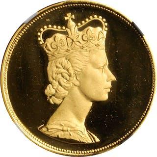 GREAT BRITAIN. Elizabeth II Visit to West Germany Gold Medallic 3