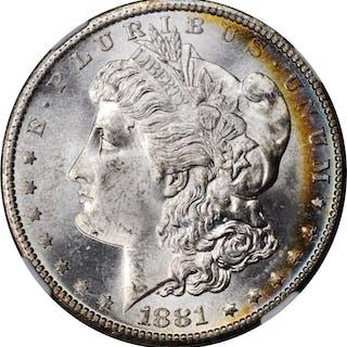 1881-S Morgan Silver Dollar. MS-66 (NGC).