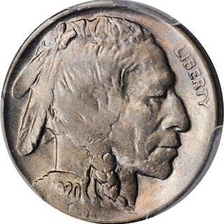 1920-D Buffalo Nickel. MS-63 (PCGS).