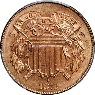 1872 Two-Cent Piece. MS-65+ RD (PCGS). CAC.