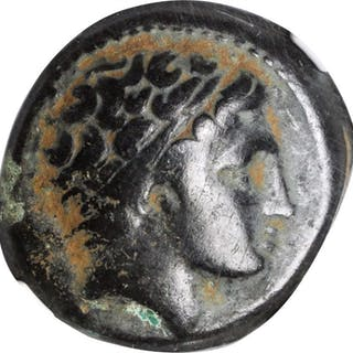 MACEDON. Kingdom of Macedon. Philip II, 359-336 B.C. AE Unit. NGC Encapsulated.