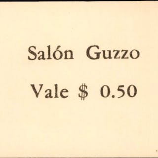URUGUAY. Salon Guzzo. 0.50 Cents Coin Substitute, ca. 1965. P-Unlisted.