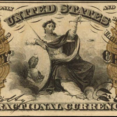 Fr. 1358. 50 Cent. Third Issue. Choice Uncirculated.