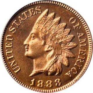 1888 Indian Cent. Snow-PR2. Proof-66 RD Cameo (PCGS).
