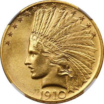 1910 Indian Eagle. MS-66+ (NGC).