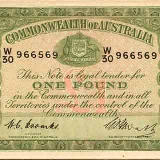 AUSTRALIA. Commonwealth Bank of Australia. 1 Pound, 1949. P-26c. Very Fine.