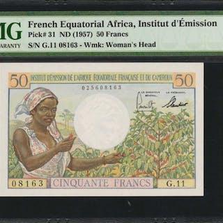 FRENCH EQUATORIAL AFRICA. Institut d'Emission. 50 Francs, ND (1957).