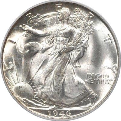 1946-S Walking Liberty Half Dollar. MS-66 (PCGS).